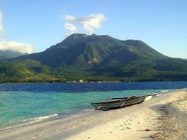View of Mt. Hibok Hibok, Camiguin from White Island