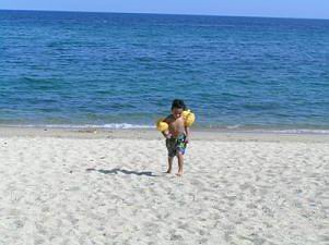 White sand beach  of Laiya